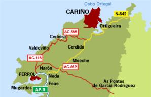 Cariño: a veces un sentimiento hermoso, y en ocasiones simplemente un pueblo de A Coruña.
