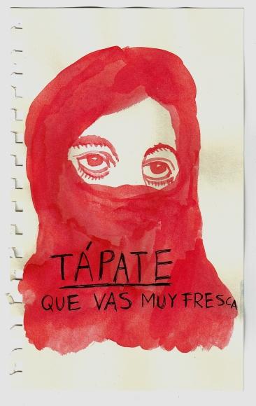 """Una amiga me contó que, en una comisión feminista del 15M, un Erasmus cándido y atorado, en su angustia por no fallar en ningún momento de su discurso igualitario (nosotros y nosotras, luchadoras y luchadores, y ASÍ HASTA LA ESQUIZOFRENIA), dijo """"Porque si nosotras y nosotros tuviésemos O TUVIÉSEMAS…"""". Pobre cordero. En la imagen, la portada de un fanzine feminista que se me ocurrió una vez. No se me ocurrió nada del contenido, sólo la portada."""