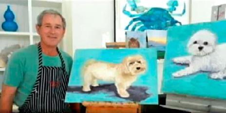 George Bush llenando su vacío existencial y huyendo del encuentro con su alma a través de un HOBBIE.